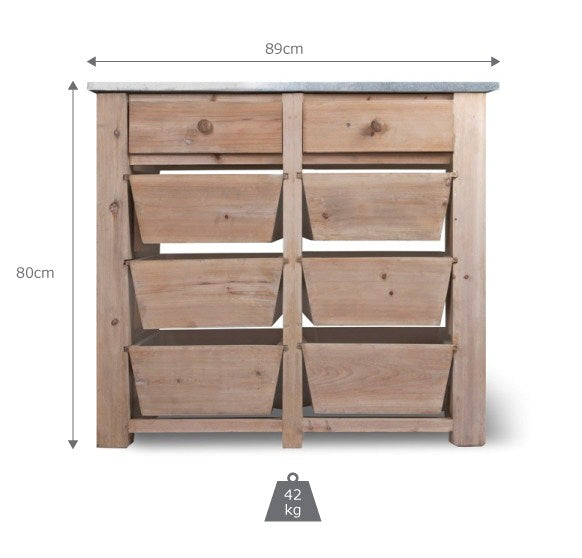 Barrington 8 Drawer Storage Unit - Ezzo