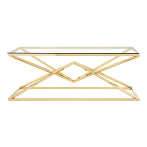 Allure Large Coffee Table Champagne Gold - Ezzo