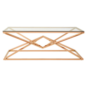 Allure Large Coffee Table Rose Gold - Ezzo