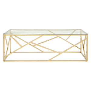 Allure Rectangular Coffee Table Champagne Gold - Ezzo