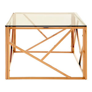 Allure Rectangular Coffee Table Rose Gold - Ezzo
