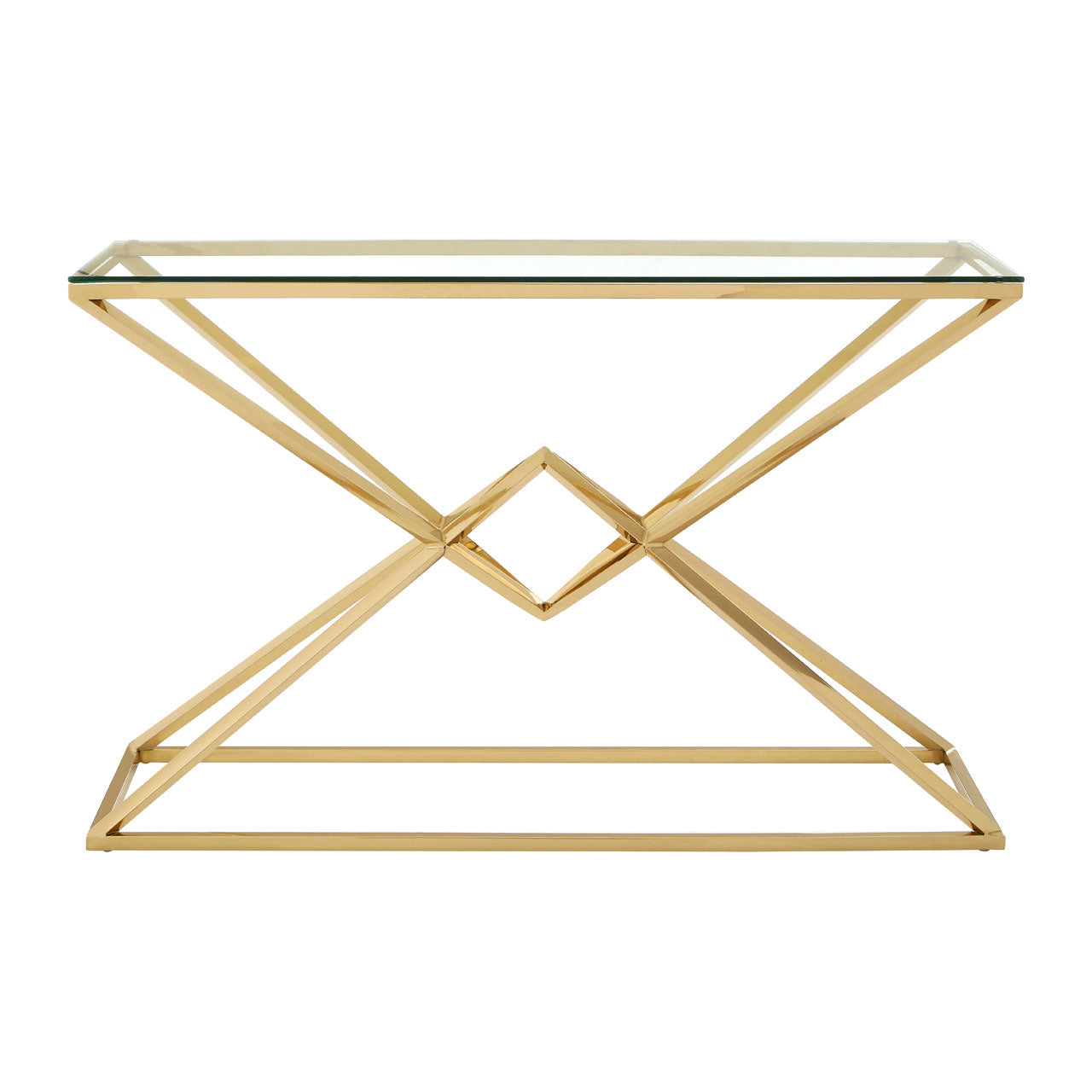 Allure Console Table Champagne Gold - Ezzo