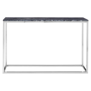 Allure Console Table Chrome and Black - Ezzo