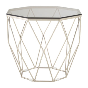 Allure End Table Brushed Nickel - Ezzo
