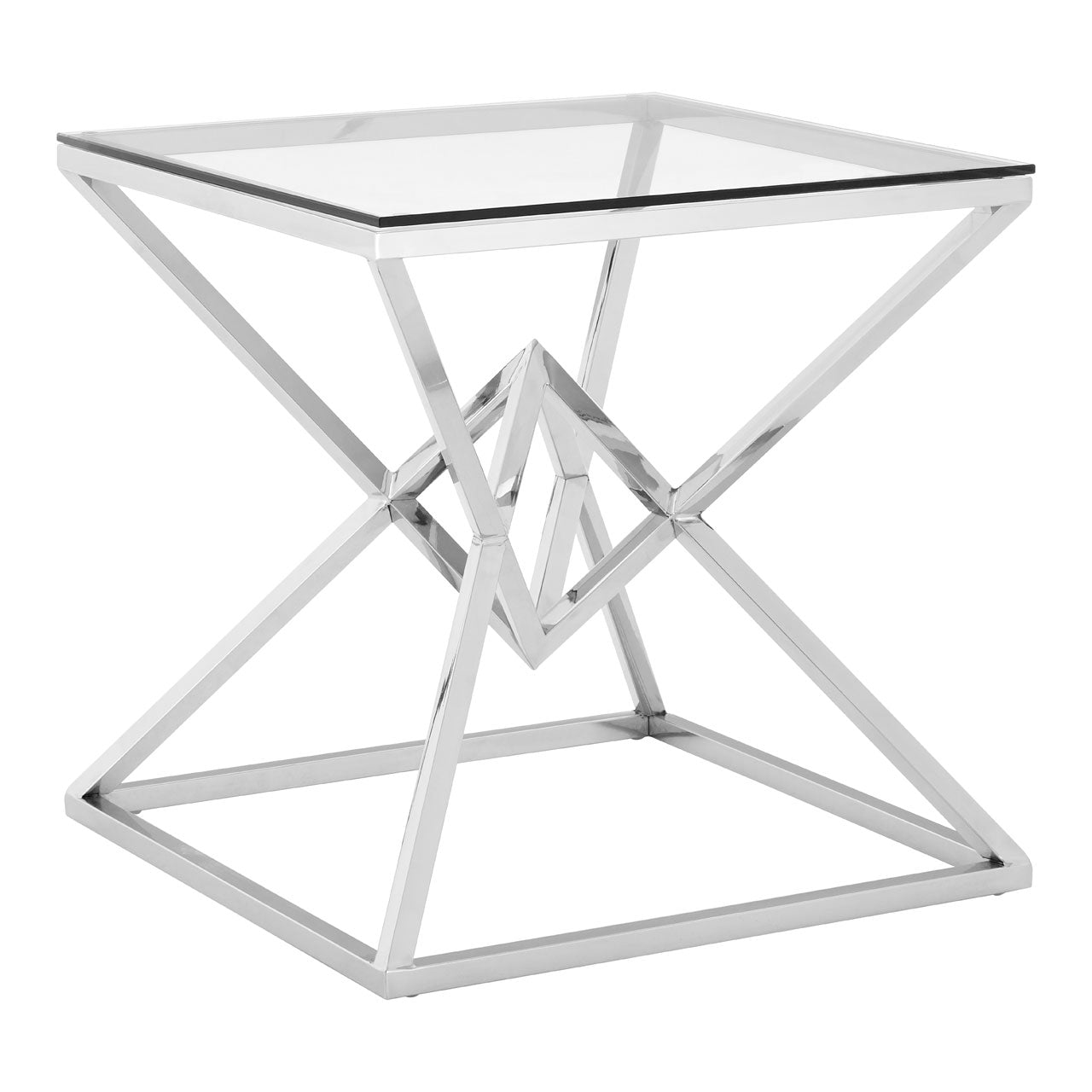 Allure End Table Chrome Square - Ezzo