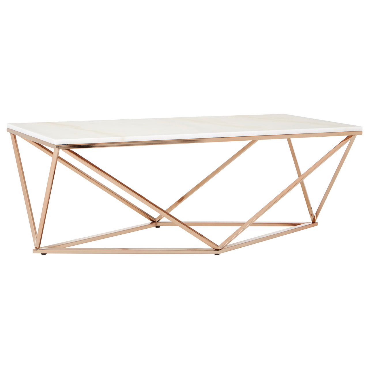 Allure Rectangular Coffee Table Champagne Gold With White Marble   Ezzo.  Allure Rectangular Coffee Table Champagne Gold With White Marble   Ezzo