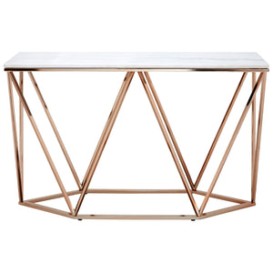 Allure Large Rectangular Console Table Champagne Gold - Ezzo