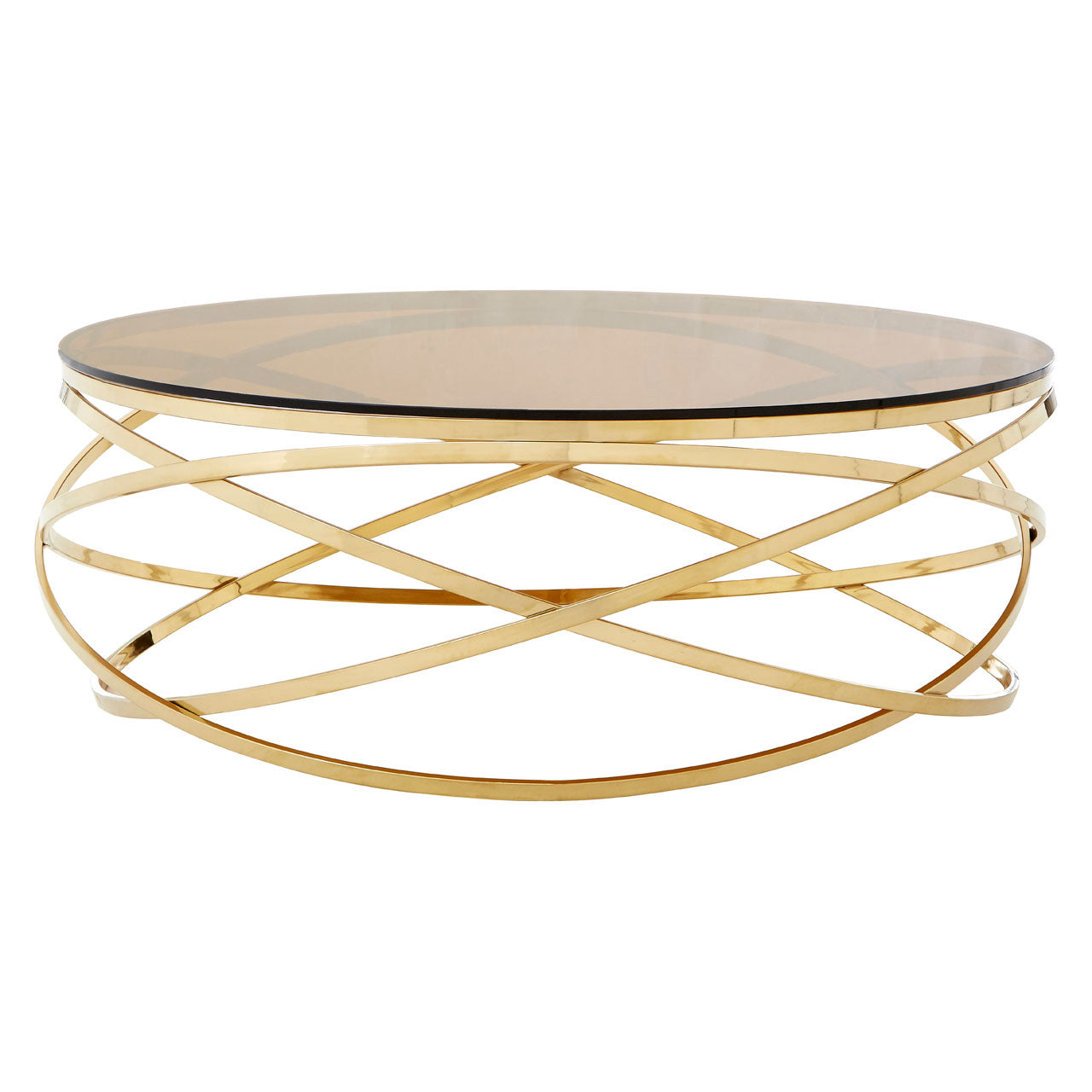 Allure Round Low Coffee Table Champagne Gold - Ezzo