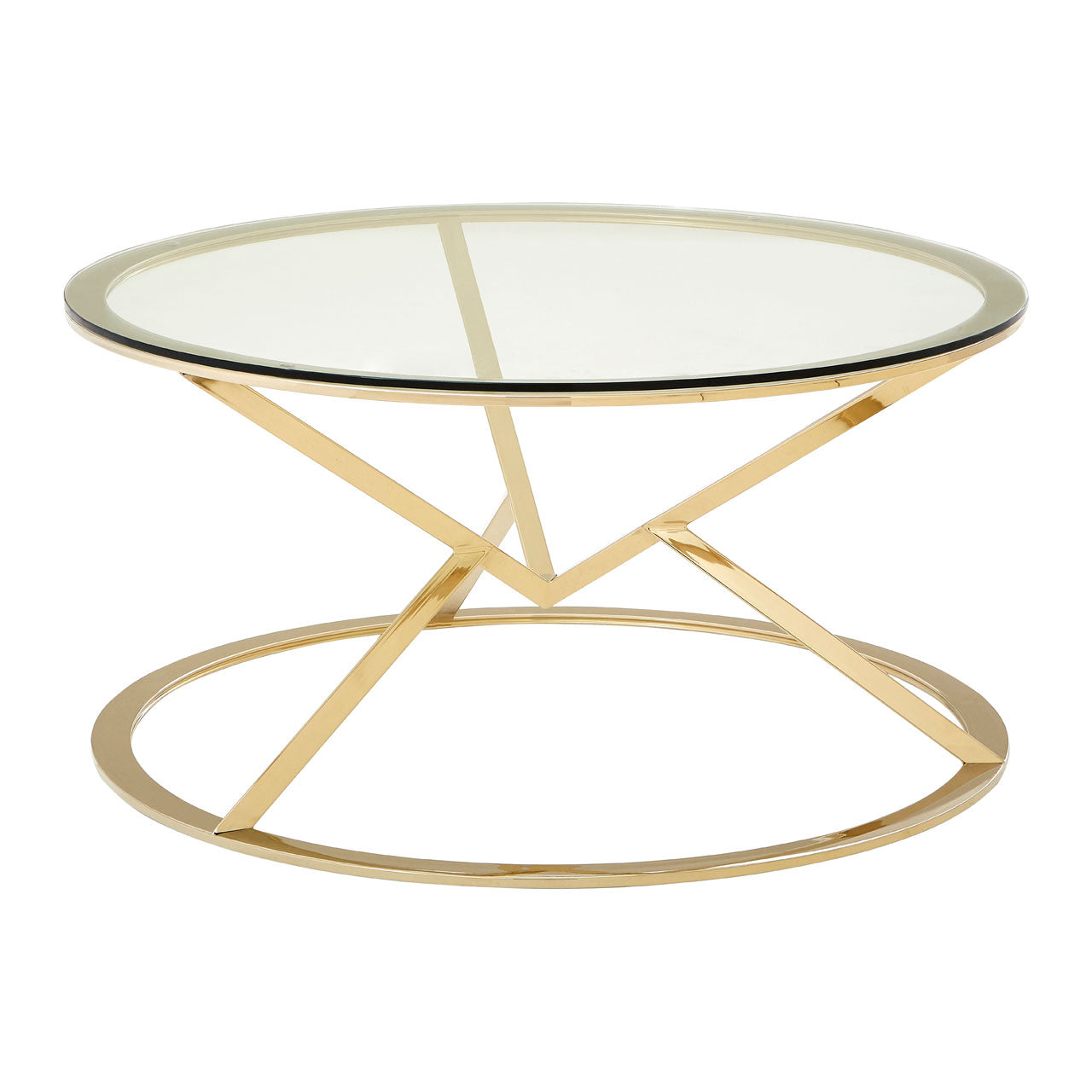 Gold Metal Round Coffee Table.Allure Round Coffee Table Champagne Gold