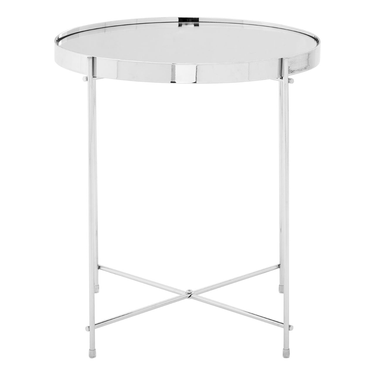 Allure Round Side Table Chrome - Ezzo