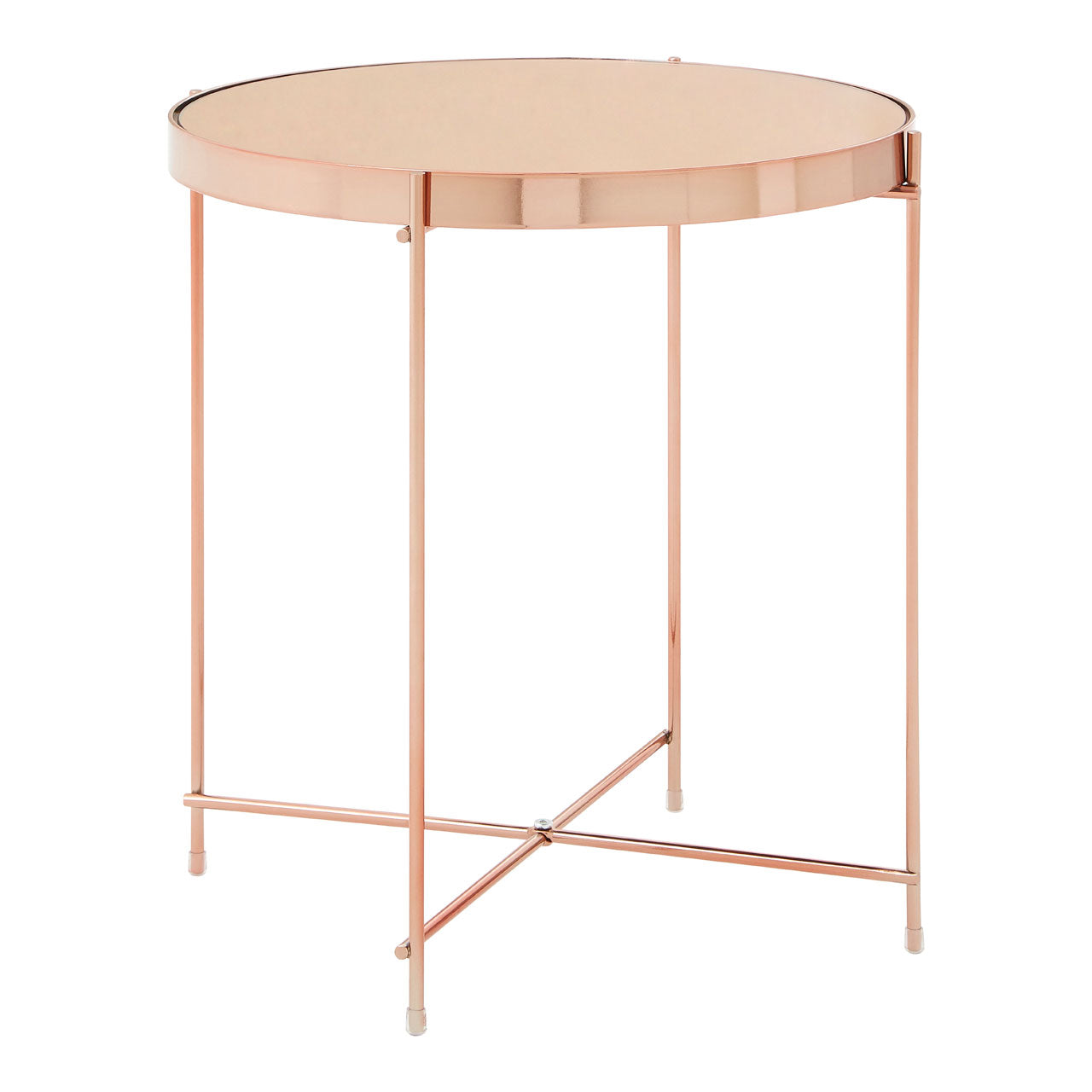 Allure Round Side Table Rose Gold - Ezzo