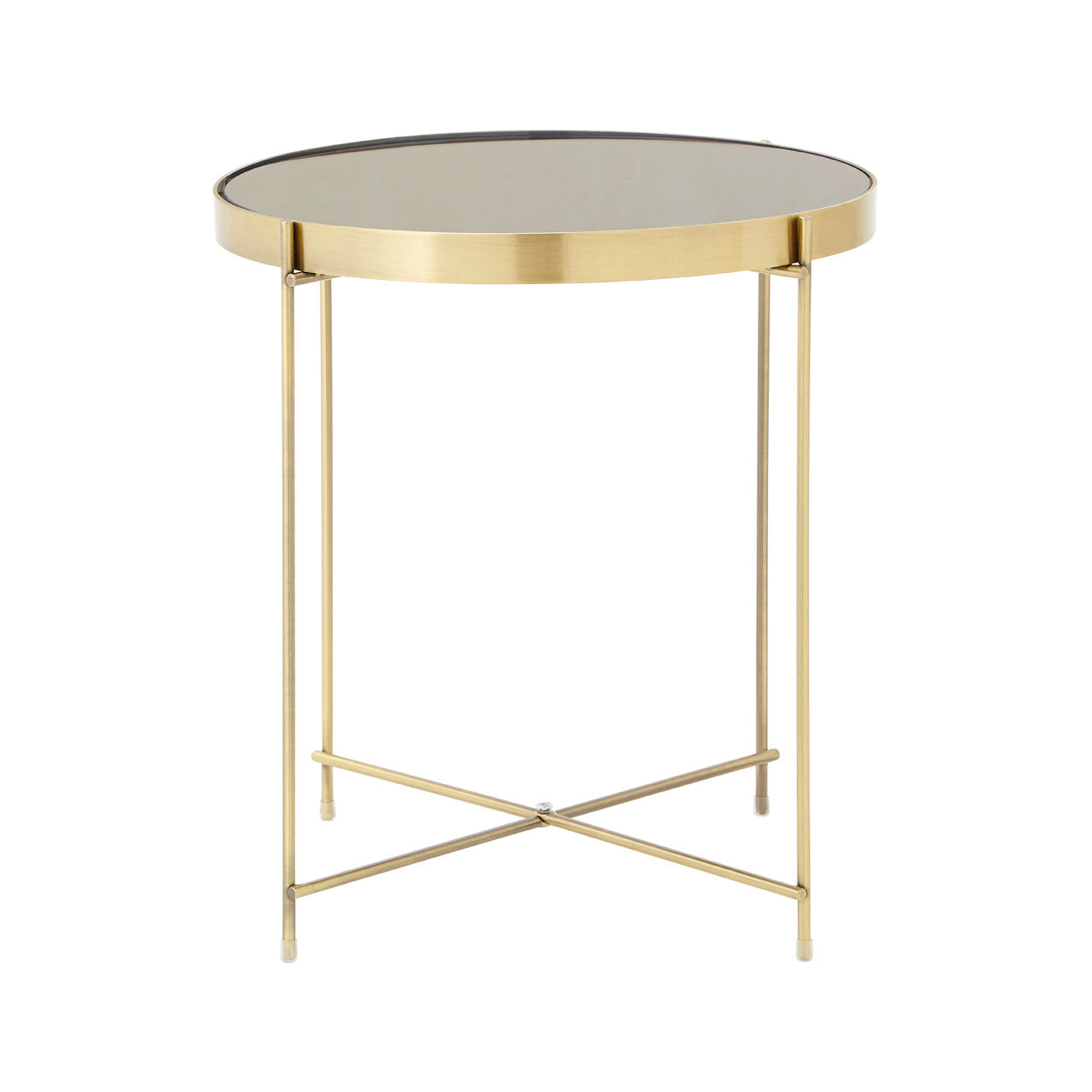 Allure Round Side Table Bronze - Ezzo