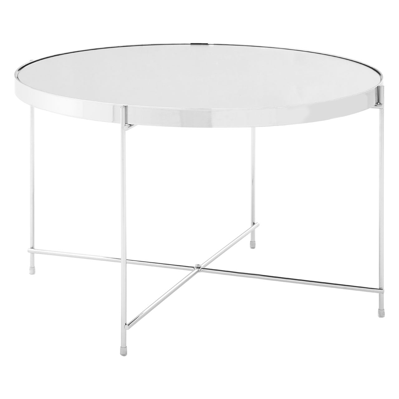 Allure Low Side Table Chrome - Ezzo