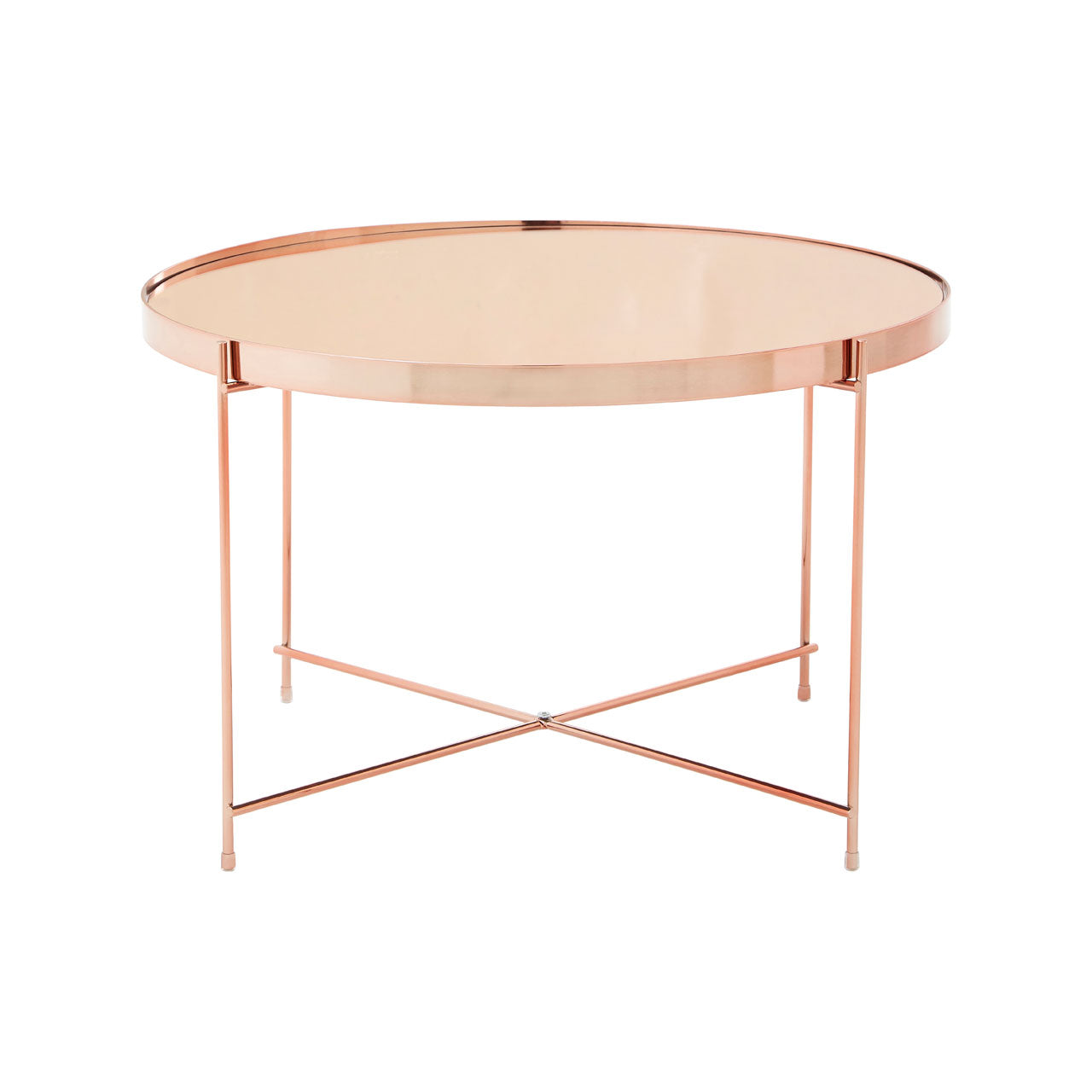 Allure Low Side Table Rose Gold - Ezzo