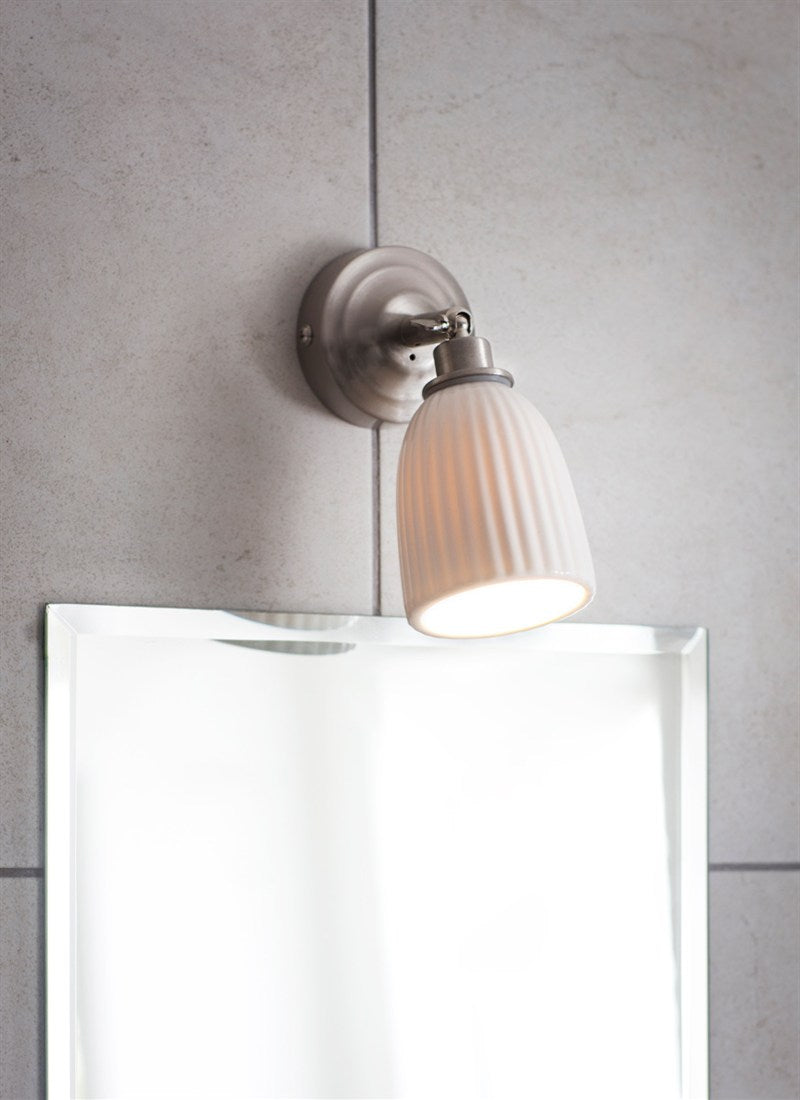 Alma Bathroom Spotlight in Satin Nickel - Ezzo