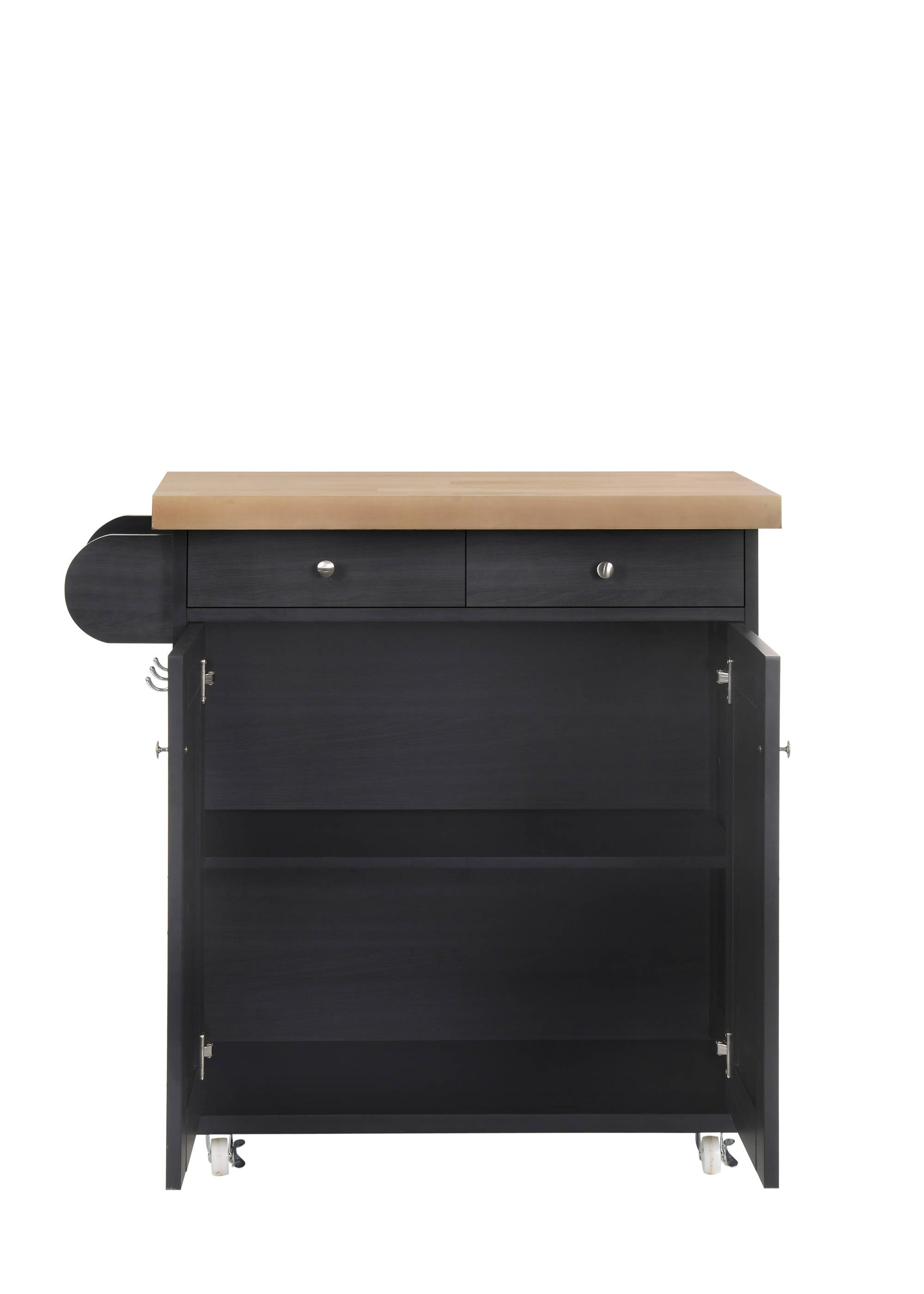 Arleta Kitchen Trolley in Black - Ezzo