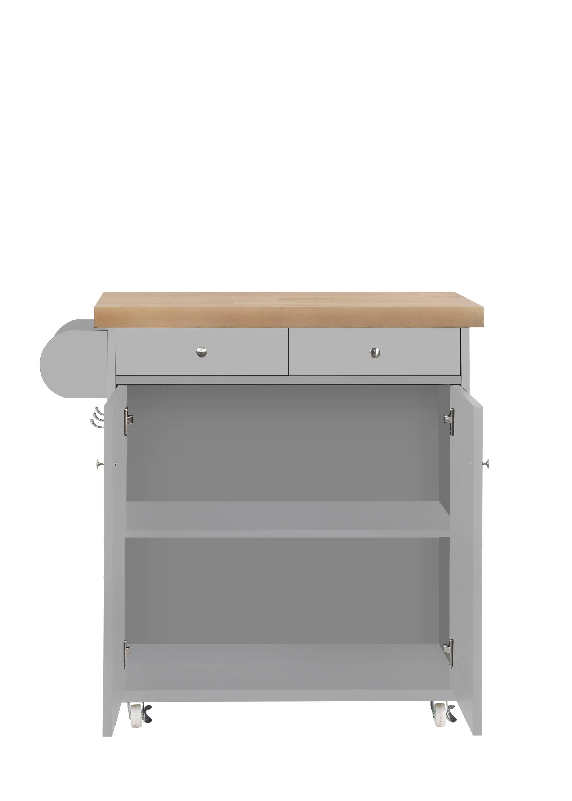 Arleta Kitchen Trolley in Grey - Ezzo