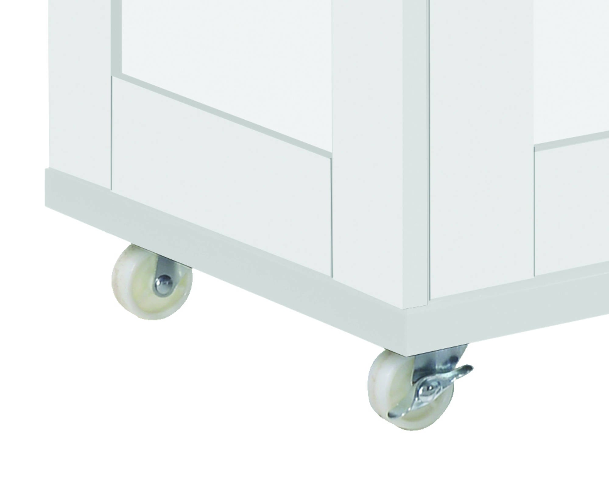 Arleta Kitchen Trolley in White - Ezzo