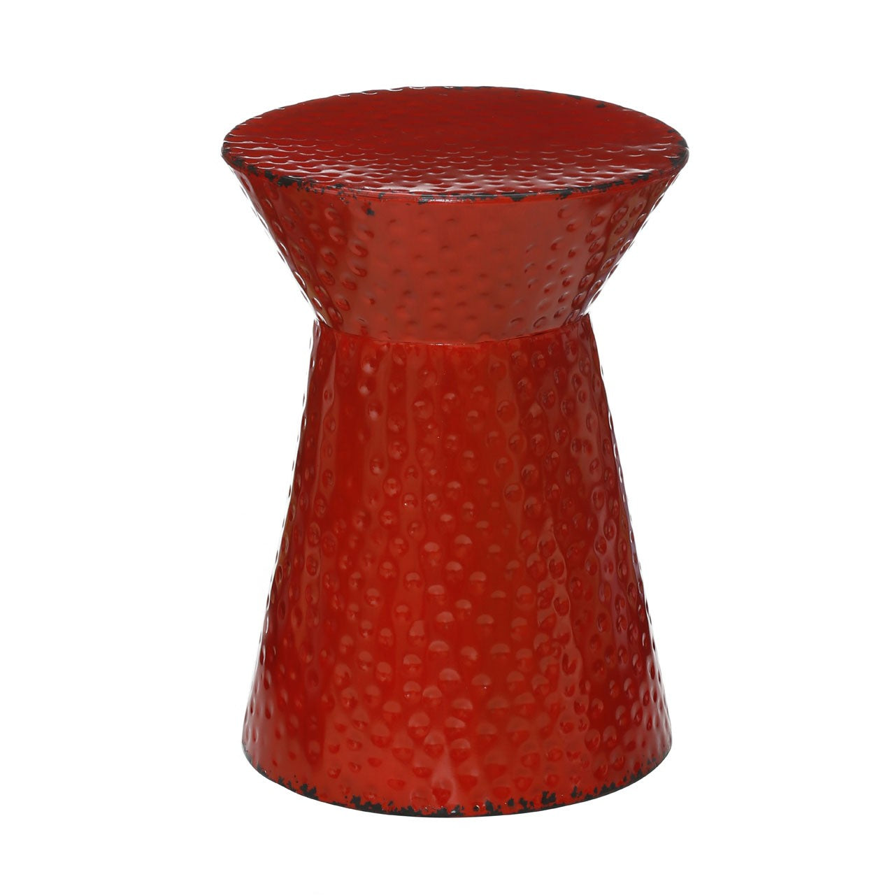 Artisan Stool Red Metal - Ezzo