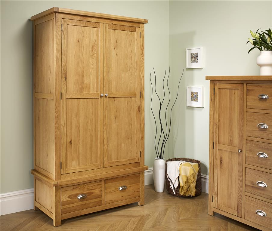 Aspley 2 Door 2 Drawer Wardrobe - Ezzo