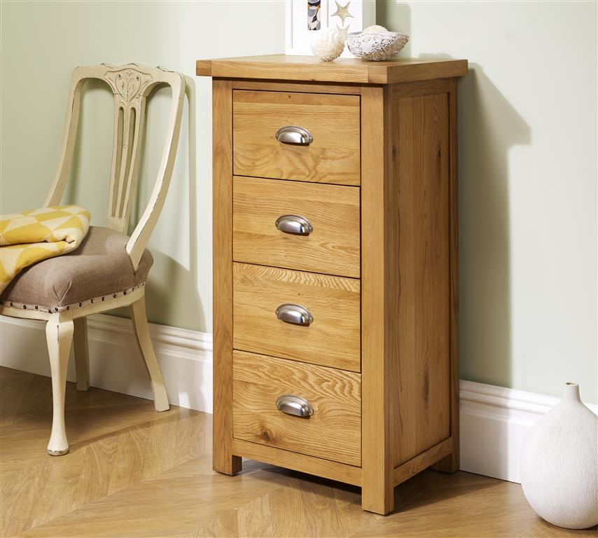 Aspley 4 Drawer Narrow Chest - Ezzo