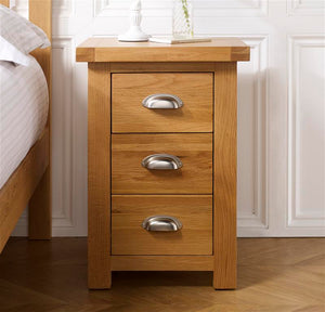 Aspley Large 3 Drawer Bedside Table - Ezzo