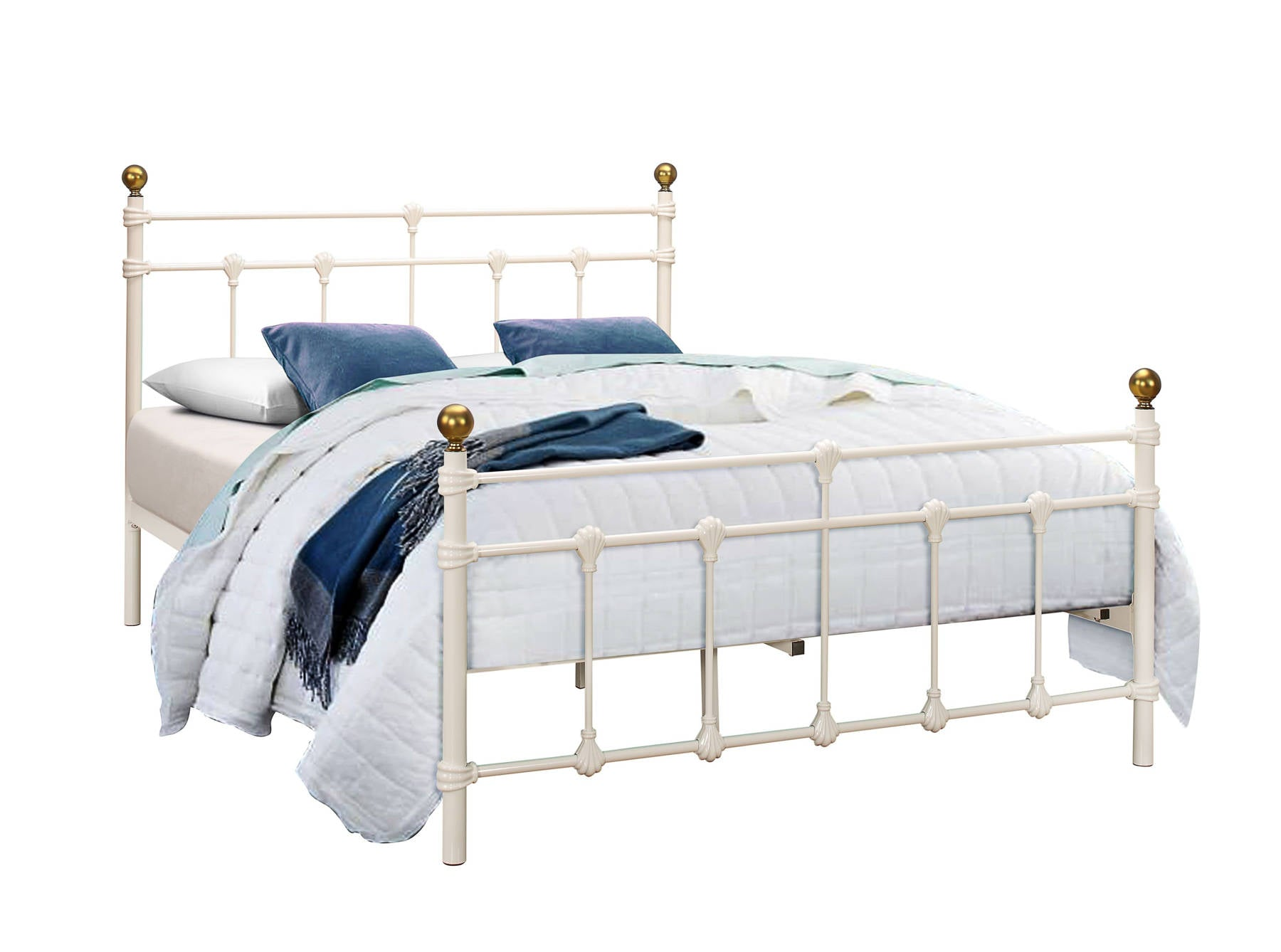 Globe Single Bed in Cream