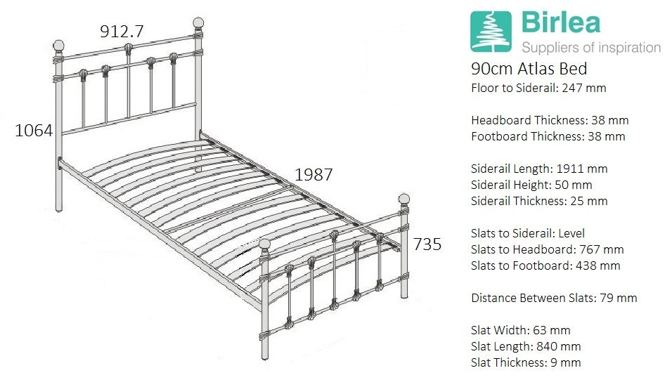 Globe Single Bed in Black