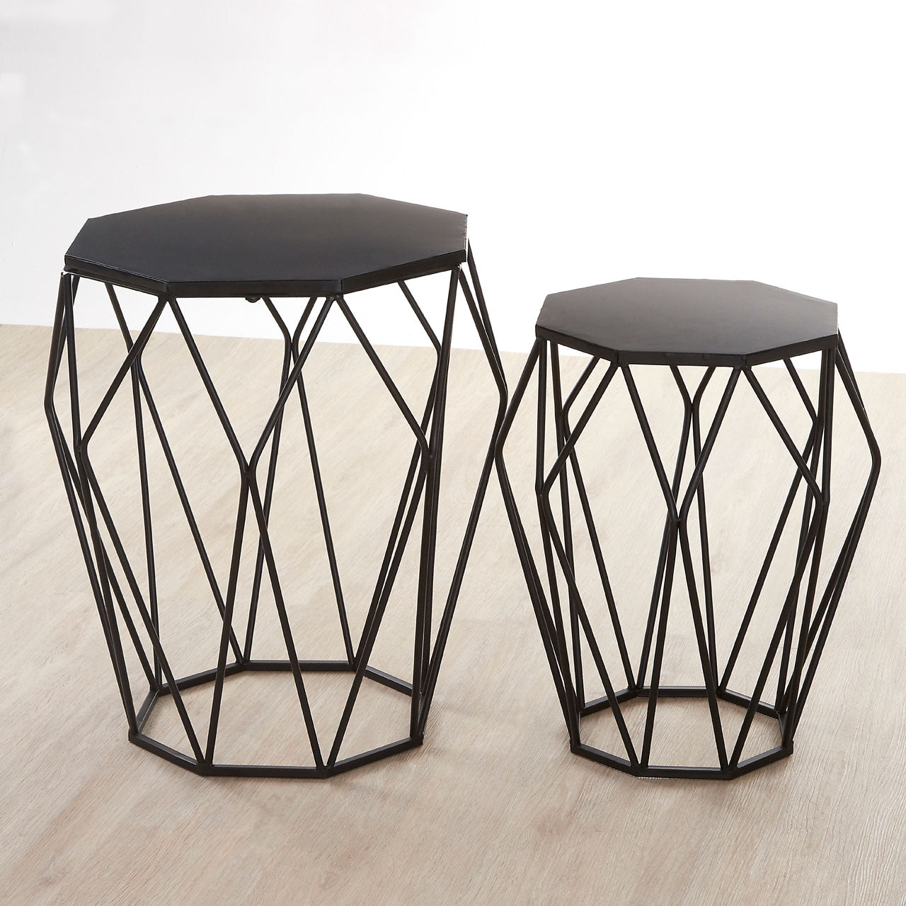 Avantis Black Metal Tables - Ezzo
