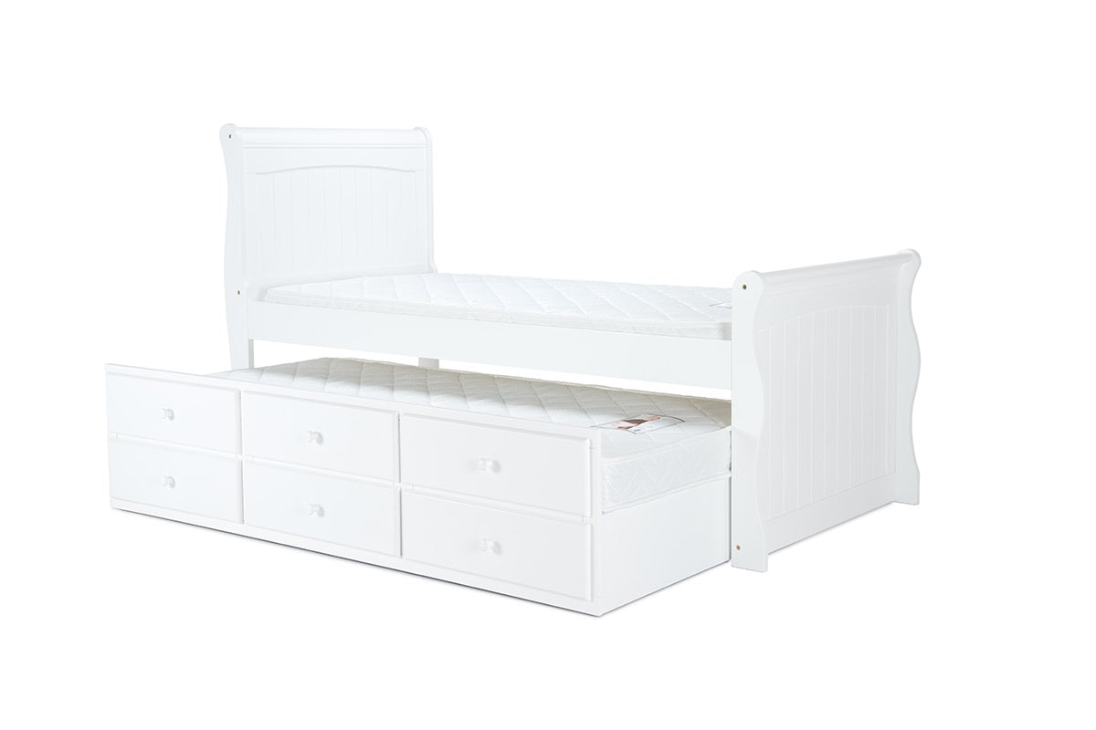 Avesa Cabin Bed in White - Ezzo