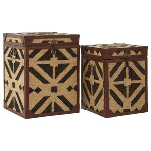 Aztec Set Of 2 Side Table Trunks - Ezzo