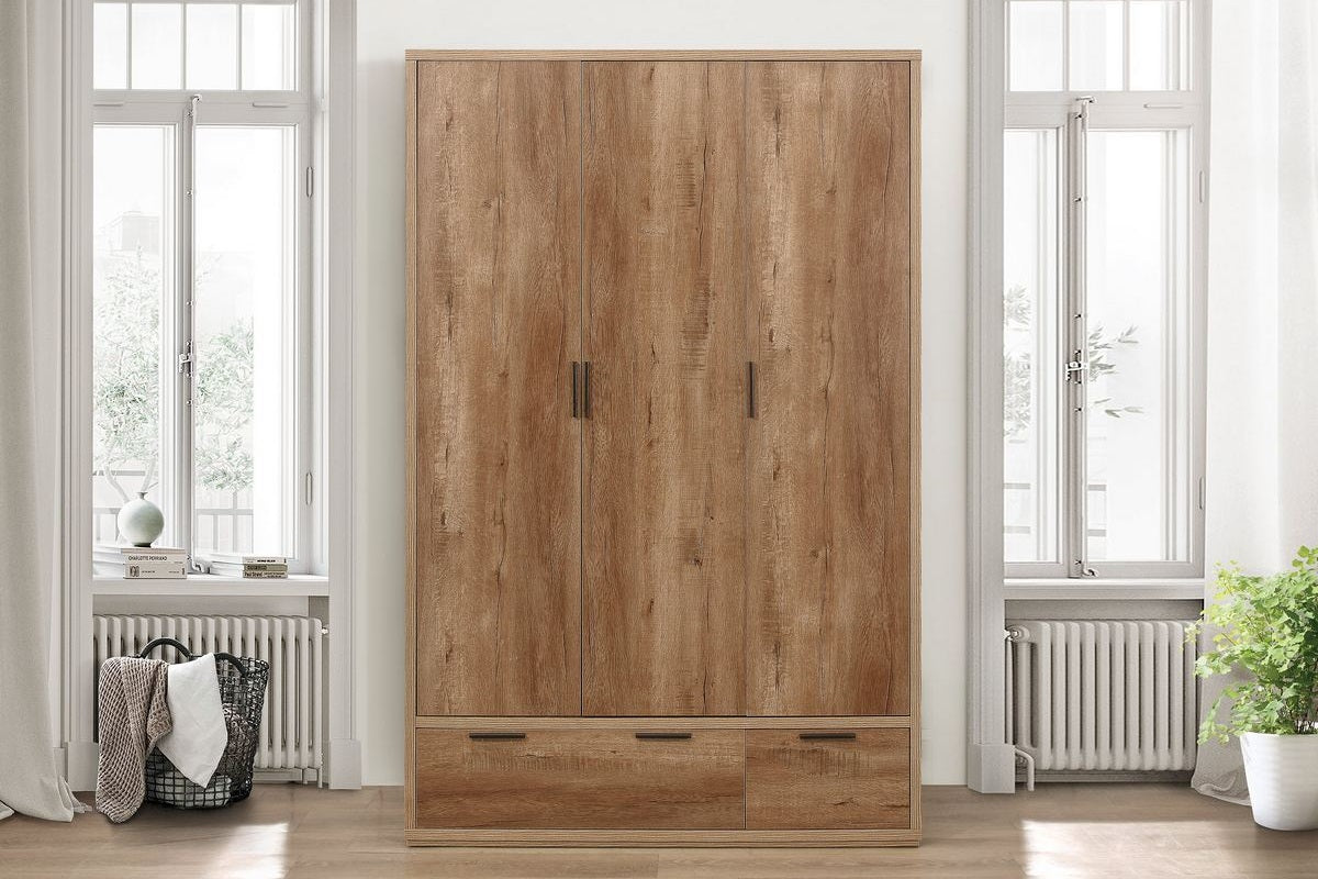 Balham 3 Door and 2 Drawer Wardrobe - Ezzo