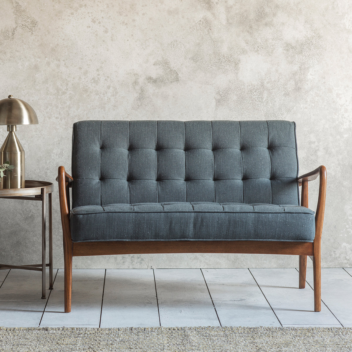 Barton 2 Seater Sofa Dark Grey Linen - Ezzo