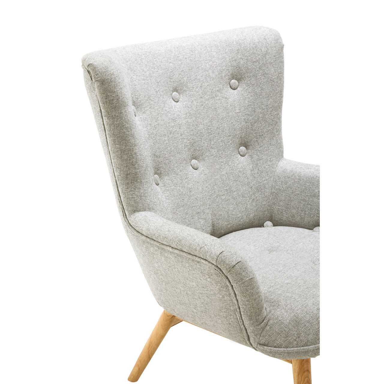 Bergen Armchair in Grey - Ezzo