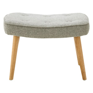 Bergen Footstool in Grey - Ezzo