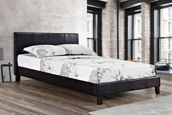 Alexander Queen Size Bed in Black - Ezzo