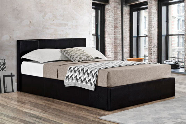 Alexander Single Ottoman Bed in Black - Ezzo