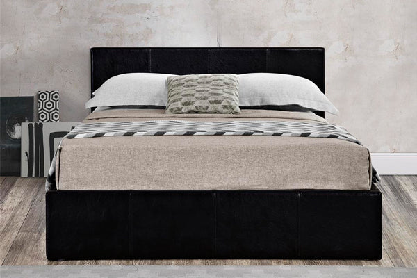 Alexander King Size Ottoman Bed in Black - Ezzo