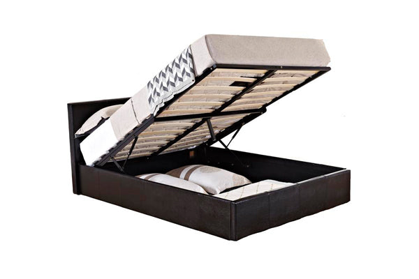 Alexander Double Ottoman Bed in Black - Ezzo