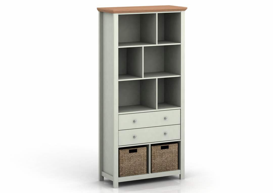 Broadwell Bookcase in Grey - Ezzo