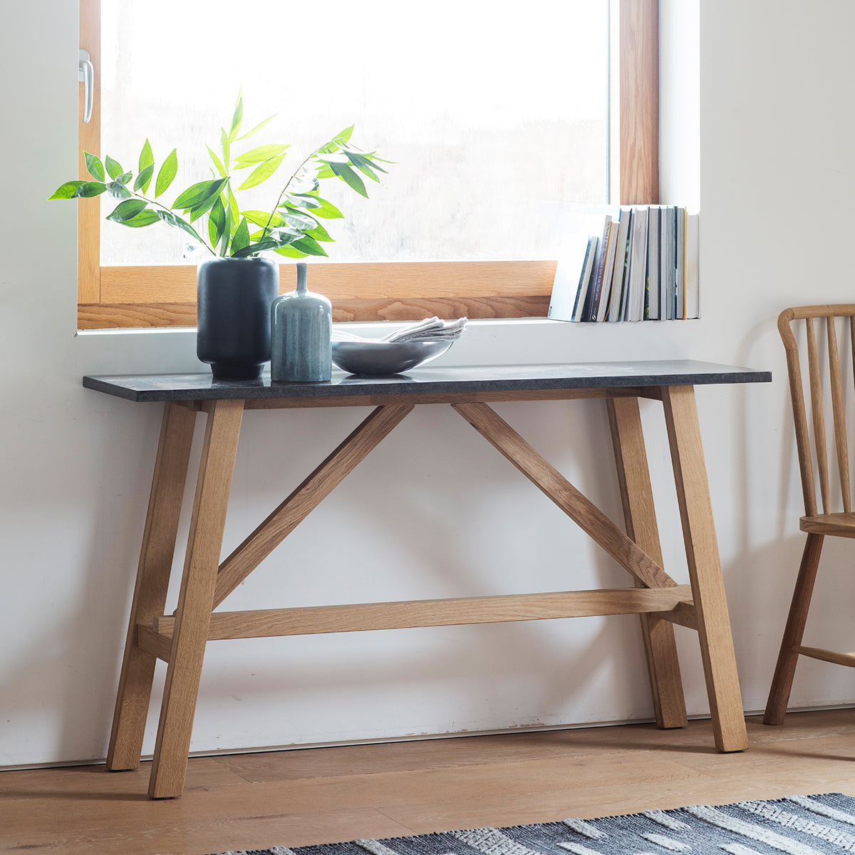 Brockwell Burnished Console Table - Ezzo