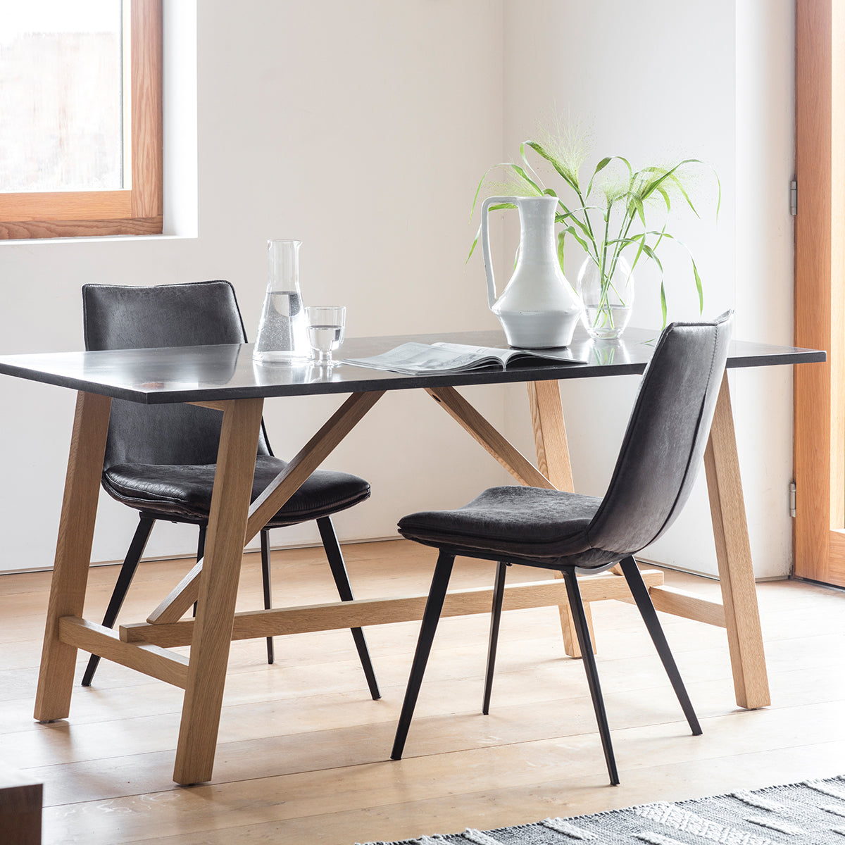 Brockwell Burnished Dining Table - Ezzo