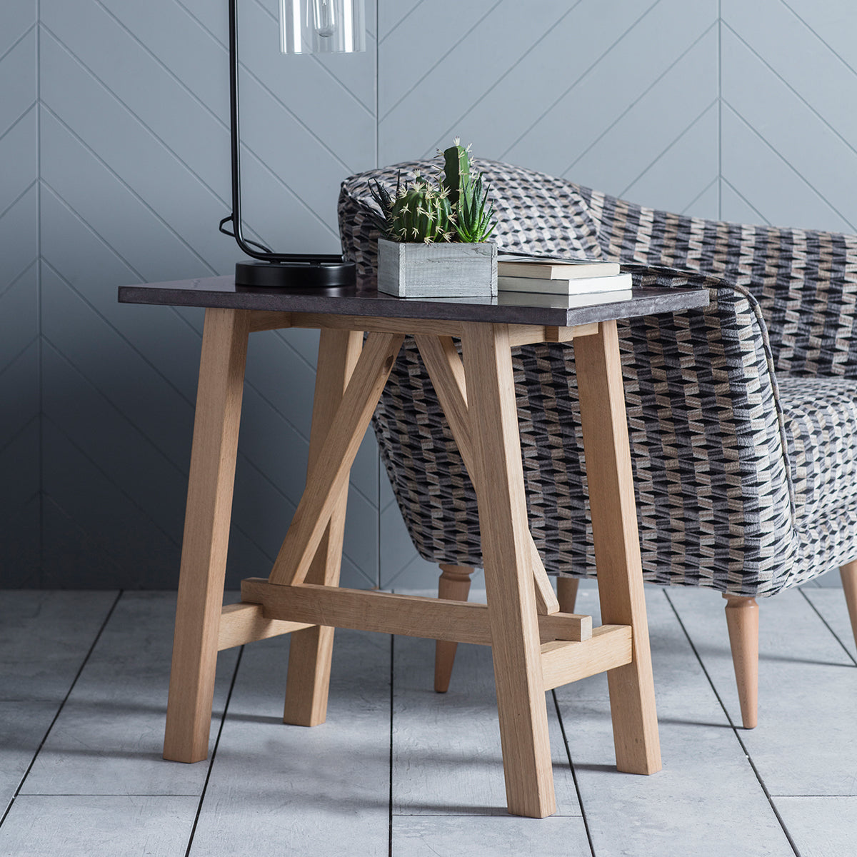 Brockwell Burnished Side Table - Ezzo