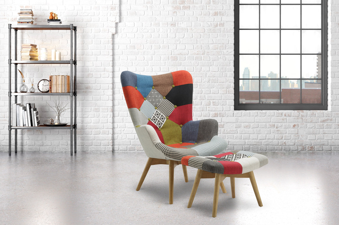 Brompton Armchair and Stool - Ezzo