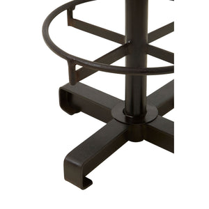 Buffalo Brown Leather Bar Stool - Ezzo