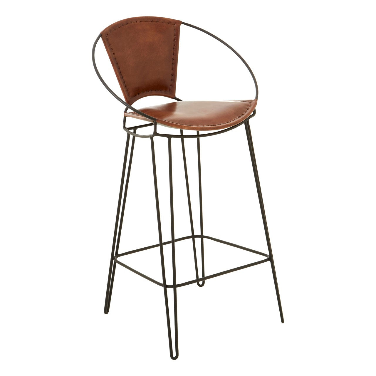 Buffalo Brown Chair With Hairpin Legs - Ezzo