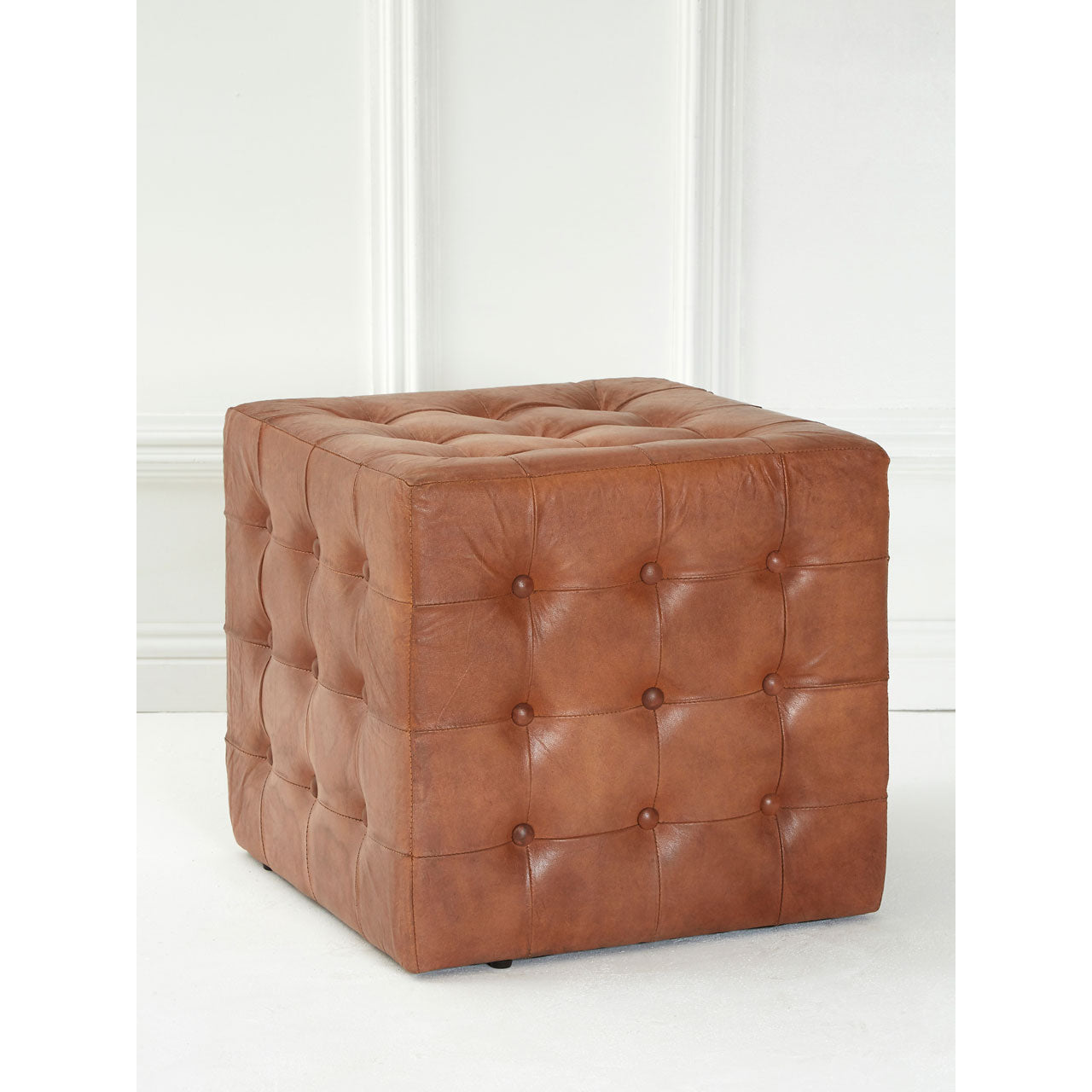 Buffalo Button Stool Brown - Ezzo