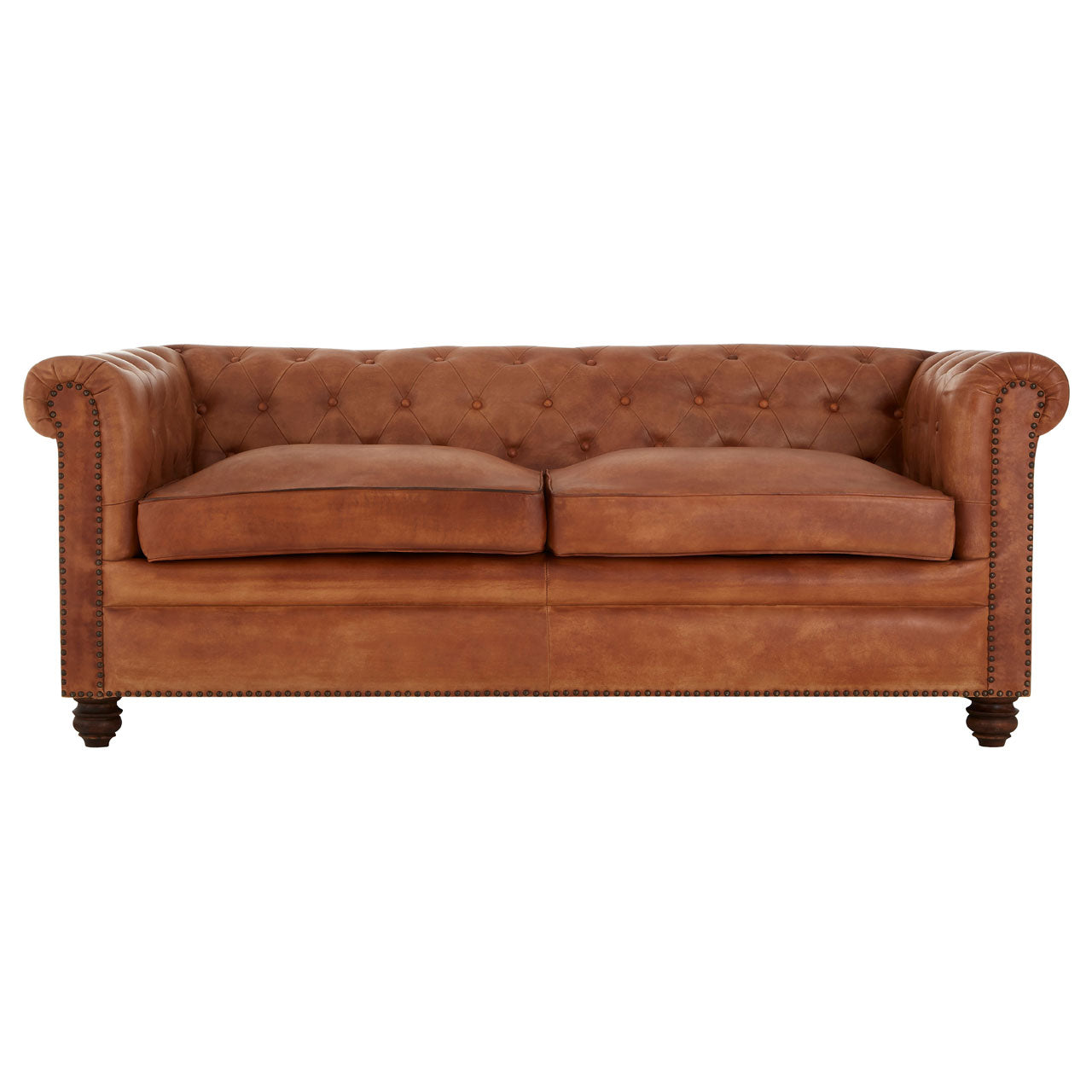 Buffalo Chesterfield Sofa Brown 3 Seat - Ezzo