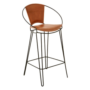 Buffalo Light Brown Chair With Hairpin Legs - Ezzo