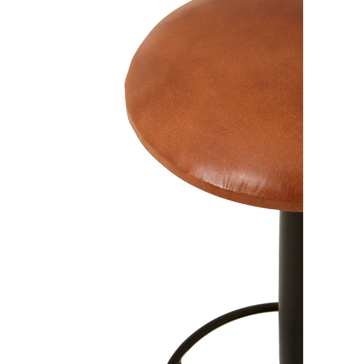 Buffalo Light Brown Leather Bar Stool - Ezzo